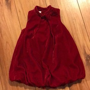 First Impressions red velvet bubble dress
